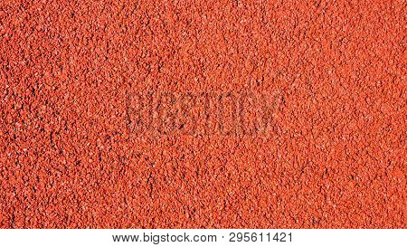 Top View Red Running Track Pattern Background Texture