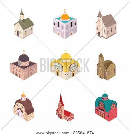 Vector Illustration Of Architecture And Building Logo. Collection Of Architecture And Clergy Stock S