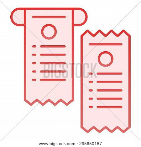 Pay Check Flat Icon. Cheque Pink Icons In Trendy Flat Style. Paper Check Gradient Style Design, Desi