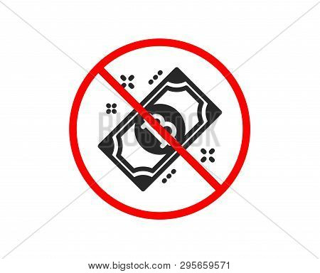 No Or Stop. Bitcoin Icon. Cryptocurrency Cash Sign. Crypto Money Symbol. Prohibited Ban Stop Symbol.