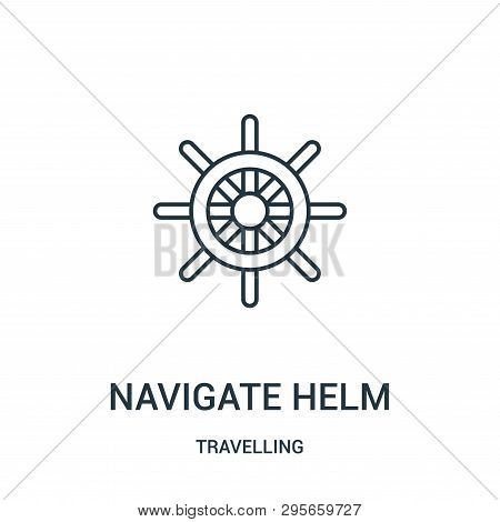 Navigate Helm Icon Isolated On White Background From Travelling Collection. Navigate Helm Icon Trend