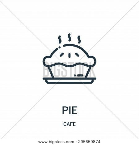 Pie Icon Isolated On White Background From Cafe Collection. Pie Icon Trendy And Modern Pie Symbol Fo