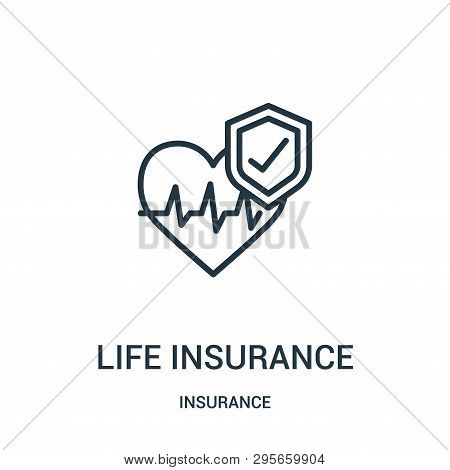 Life Insurance Icon Isolated On White Background From Insurance Collection. Life Insurance Icon Tren