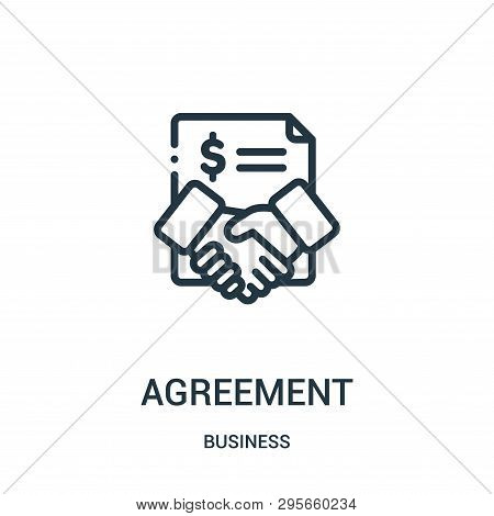 Agreement Icon Isolated On White Background From Business Collection. Agreement Icon Trendy And Mode