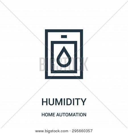 Humidity Icon Isolated On White Background From Home Automation Collection. Humidity Icon Trendy And