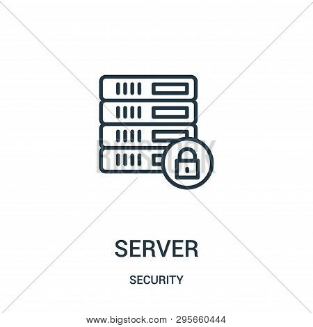 Server Icon Isolated On White Background From Security Collection. Server Icon Trendy And Modern Ser