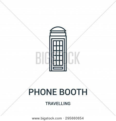 Phone Booth Icon Isolated On White Background From Travelling Collection. Phone Booth Icon Trendy An