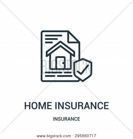 Home Insurance Icon Isolated On White Background From Insurance Collection. Home Insurance Icon Tren