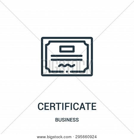 Certificate Icon Isolated On White Background From Business Collection. Certificate Icon Trendy And
