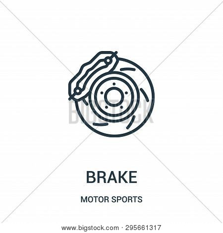 Brake Icon Isolated On White Background From Motor Sports Collection. Brake Icon Trendy And Modern B