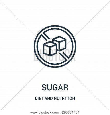 Sugar Icon Isolated On White Background From Diet And Nutrition Collection. Sugar Icon Trendy And Mo