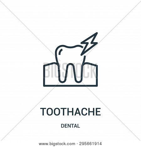 Toothache Icon Isolated On White Background From Dental Collection. Toothache Icon Trendy And Modern