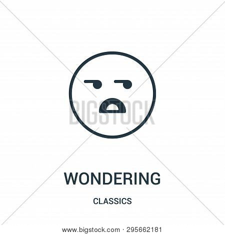 Wondering Icon Isolated On White Background From Classics Collection. Wondering Icon Trendy And Mode