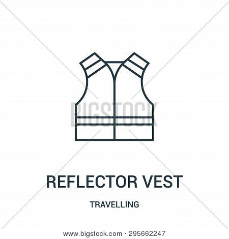 Reflector Vest Icon Isolated On White Background From Travelling Collection. Reflector Vest Icon Tre