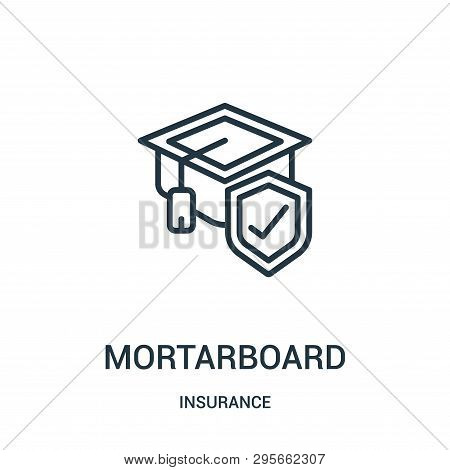 Mortarboard Icon Isolated On White Background From Insurance Collection. Mortarboard Icon Trendy And
