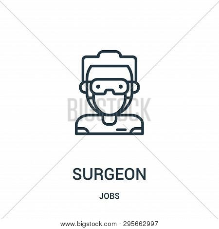 Surgeon Icon Isolated On White Background From Jobs Collection. Surgeon Icon Trendy And Modern Surge