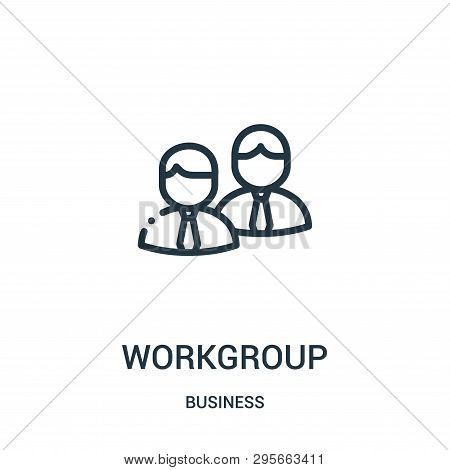 Workgroup Icon Isolated On White Background From Business Collection. Workgroup Icon Trendy And Mode