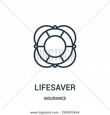Lifesaver Icon Isolated On White Background From Insurance Collection. Lifesaver Icon Trendy And Mod