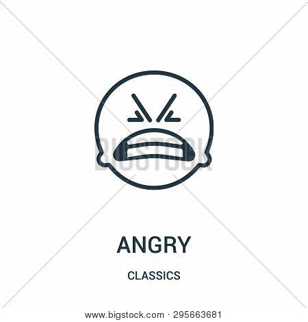 Angry Icon Isolated On White Background From Classics Collection. Angry Icon Trendy And Modern Angry