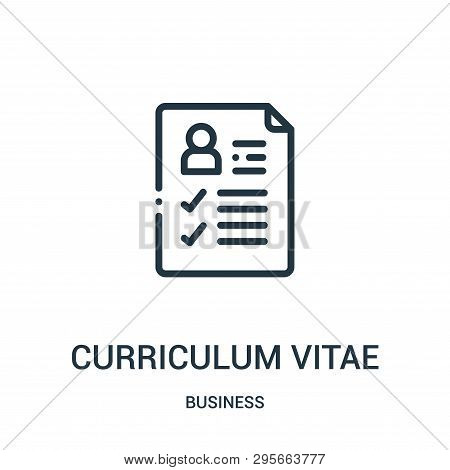 Curriculum Vitae Icon Isolated On White Background From Business Collection. Curriculum Vitae Icon T