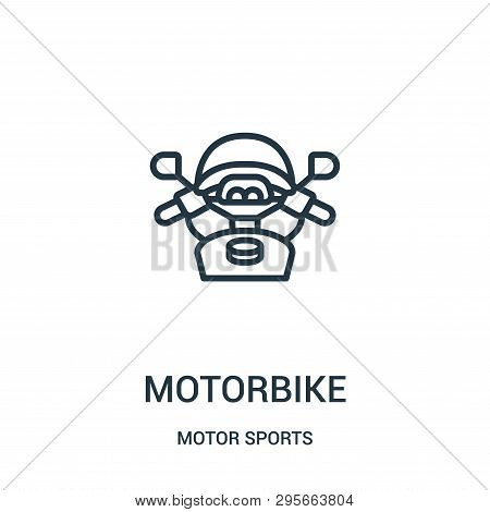 Motorbike Icon Isolated On White Background From Motor Sports Collection. Motorbike Icon Trendy And