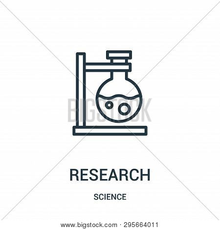 Research Icon Isolated On White Background From Science Collection. Research Icon Trendy And Modern
