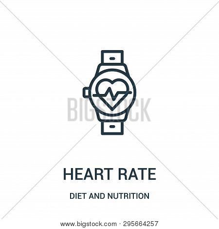 Heart Rate Icon Isolated On White Background From Diet And Nutrition Collection. Heart Rate Icon Tre