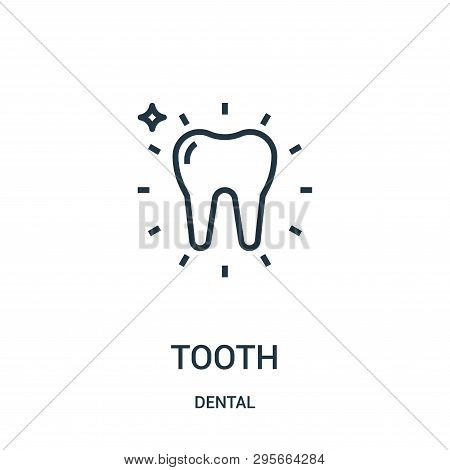 Tooth Icon Isolated On White Background From Dental Collection. Tooth Icon Trendy And Modern Tooth S