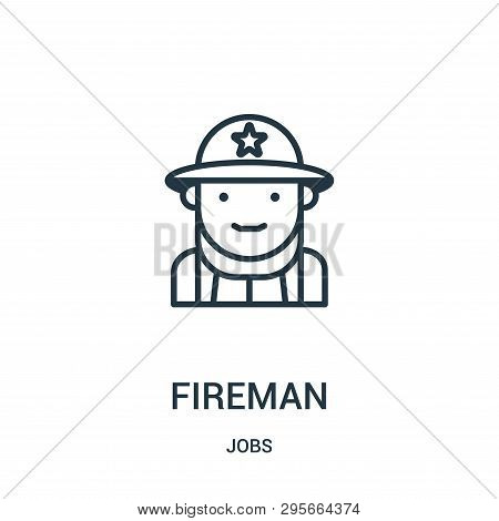 Fireman Icon Isolated On White Background From Jobs Collection. Fireman Icon Trendy And Modern Firem