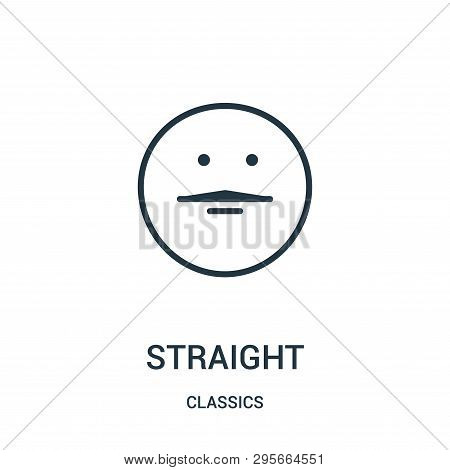 Straight Icon Isolated On White Background From Classics Collection. Straight Icon Trendy And Modern
