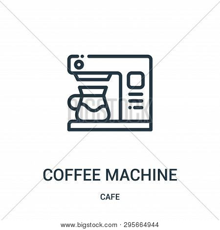 Coffee Machine Icon Isolated On White Background From Cafe Collection. Coffee Machine Icon Trendy An