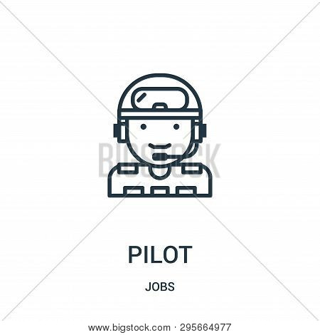 Pilot Icon Isolated On White Background From Jobs Collection. Pilot Icon Trendy And Modern Pilot Sym