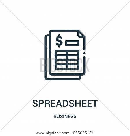 Spreadsheet Icon Isolated On White Background From Business Collection. Spreadsheet Icon Trendy And