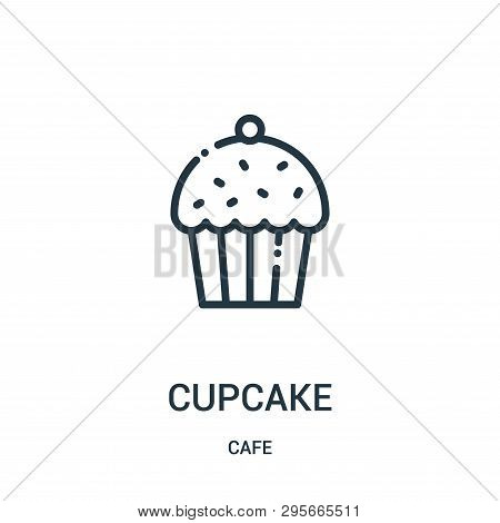 Cupcake Icon Isolated On White Background From Cafe Collection. Cupcake Icon Trendy And Modern Cupca