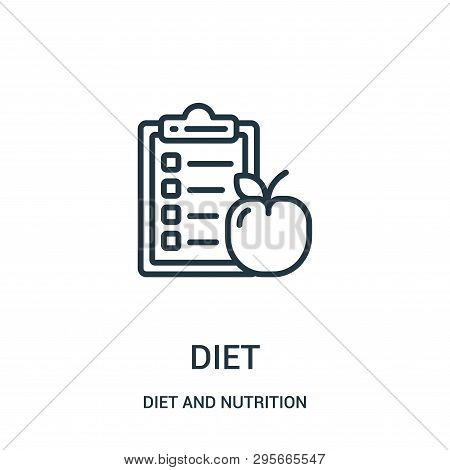 Diet Icon Isolated On White Background From Diet And Nutrition Collection. Diet Icon Trendy And Mode
