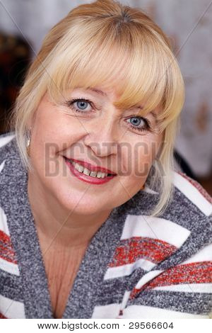 beautiful blond old woman