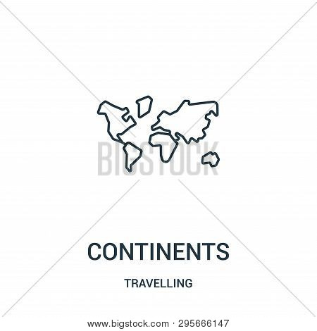 Continents Icon Isolated On White Background From Travelling Collection. Continents Icon Trendy And