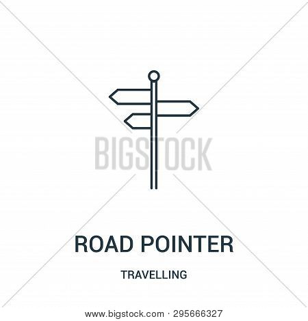 Road Pointer Icon Isolated On White Background From Travelling Collection. Road Pointer Icon Trendy