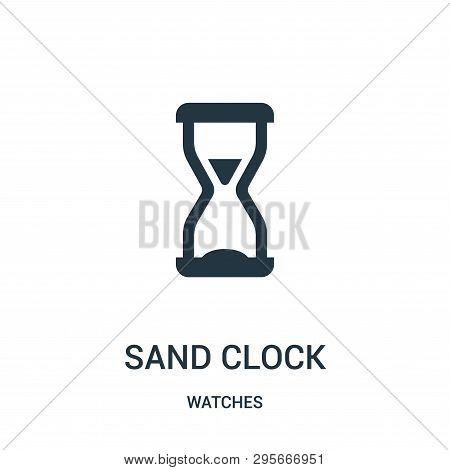 Sand Clock Icon Isolated On White Background From Watches Collection. Sand Clock Icon Trendy And Mod