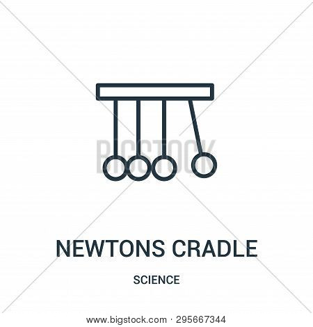 Newtons Cradle Icon Isolated On White Background From Science Collection. Newtons Cradle Icon Trendy