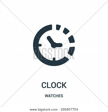 Clock Symbol Of Circular Shape Icon Isolated On White Background From Watches Collection. Clock Symb