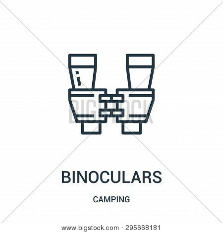 Binoculars Icon Isolated On White Background From Camping Collection. Binoculars Icon Trendy And Mod