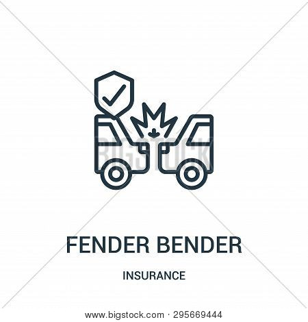 Fender Bender Icon Isolated On White Background From Insurance Collection. Fender Bender Icon Trendy