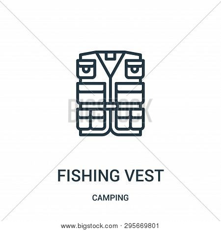 Fishing Vest Icon Isolated On White Background From Camping Collection. Fishing Vest Icon Trendy And