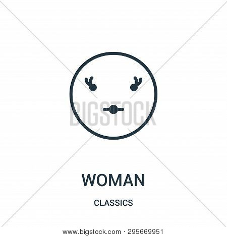 Woman Icon Isolated On White Background From Classics Collection. Woman Icon Trendy And Modern Woman