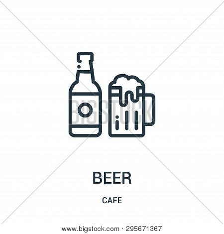 Beer Icon Isolated On White Background From Cafe Collection. Beer Icon Trendy And Modern Beer Symbol