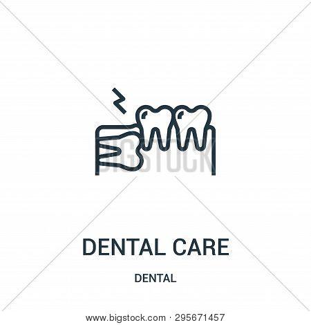 Dental Care Icon Isolated On White Background From Dental Collection. Dental Care Icon Trendy And Mo