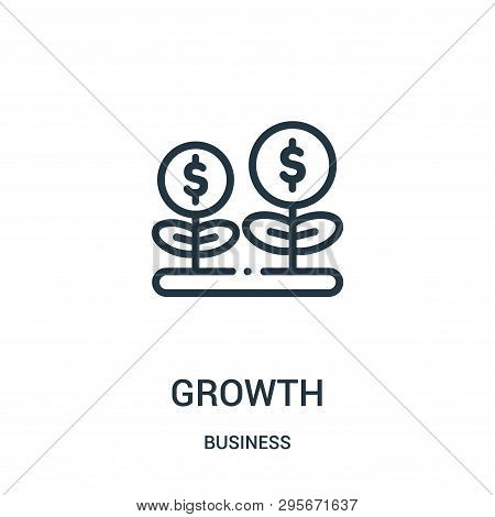 Growth Icon Isolated On White Background From Business Collection. Growth Icon Trendy And Modern Gro