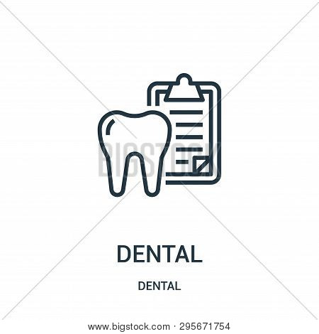 Dental Icon Isolated On White Background From Dental Collection. Dental Icon Trendy And Modern Denta