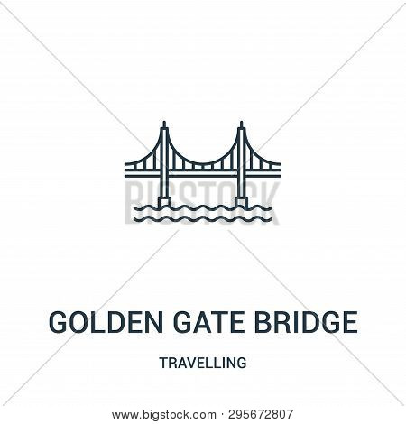 Golden Gate Bridge Icon Isolated On White Background From Travelling Collection. Golden Gate Bridge